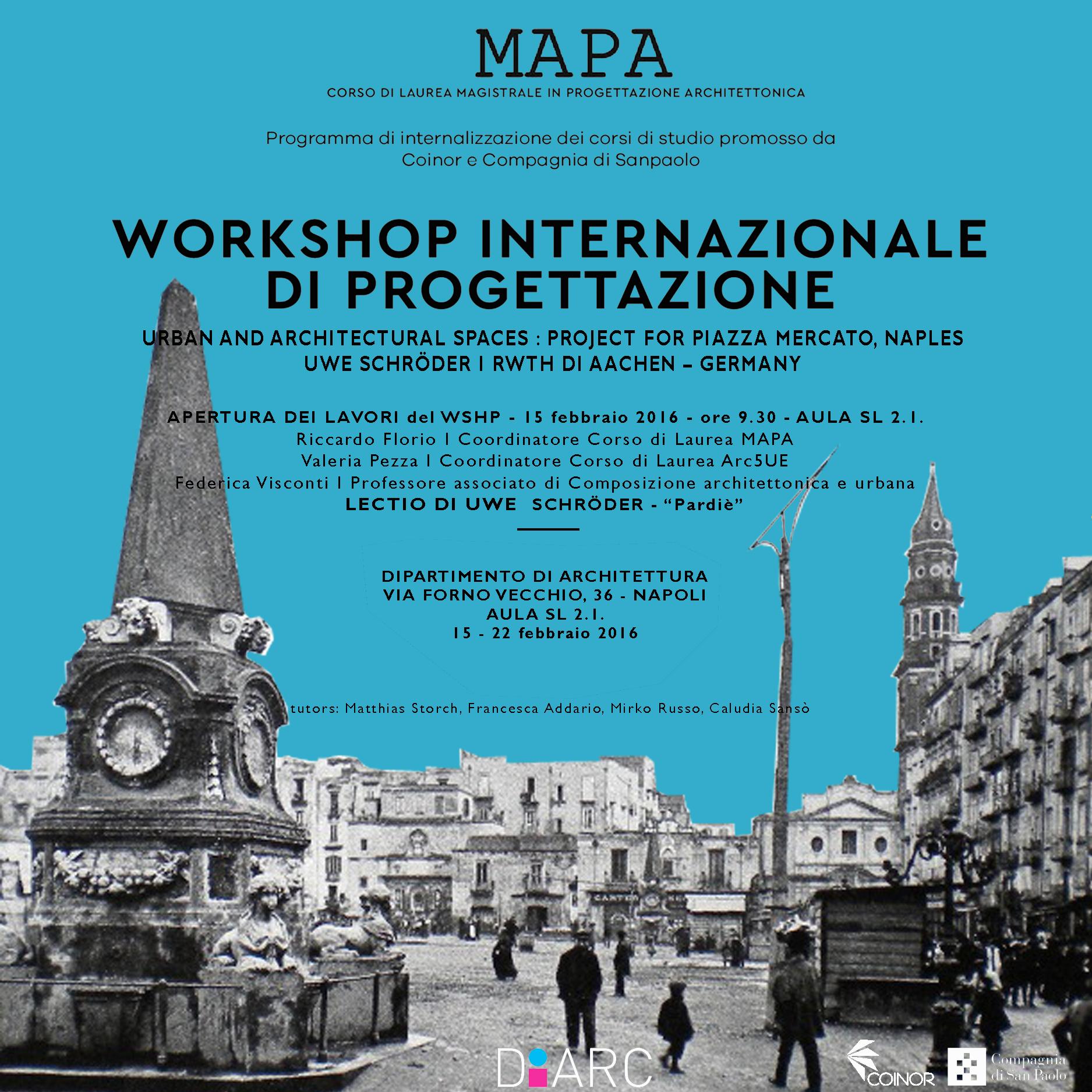 Usarch workshop vortr ge und kolloquien von mit usarch for Studi di architettura napoli