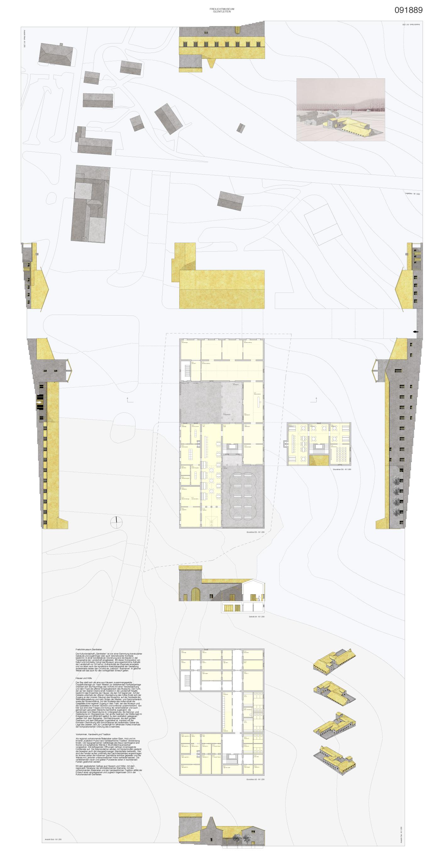 Mit dem gegliederten gefüge aus häusern und höfen mit dem regionalen vokabular der architektonischen elemente mit den vorkommenden materialien und der
